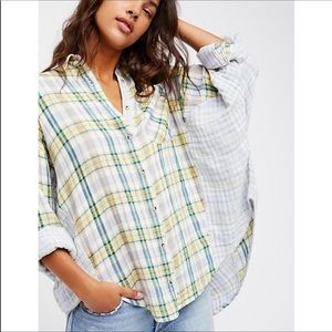 Free People | One of the Guys Plaid Button Down